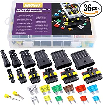 Car Waterproof Electrical Wire Automotive Connector 1-6 Pin Way Plug Kit C