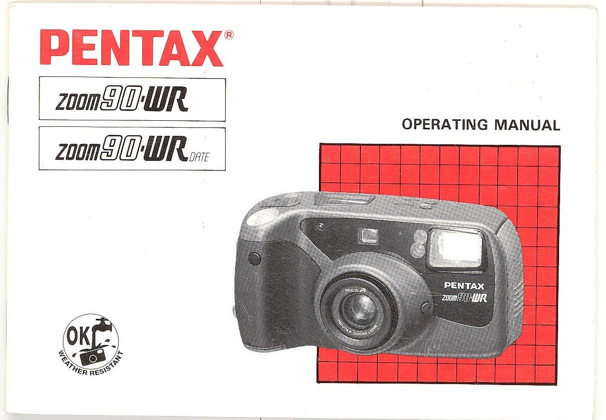 pentax zoom 90 wr pentax zoom 90 wr date original operating manual rh amazon com