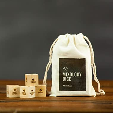 Mixology Dice® (pouch) // Cocktail inspiration, Father's day gifts, for dad, men, bartender, birthday or hostess