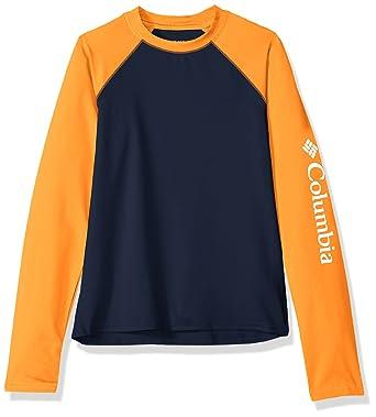 ca08330d Columbia Kids' Big Boy's Mini Breaker Long Sleeve Sunguard, Collegiate  Navy, ...