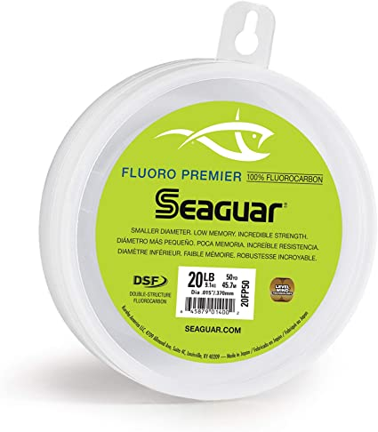 Seaguar Fluoro Premier Fluorocarbon Leader Fishing Line 50 Yards Select Lb Test