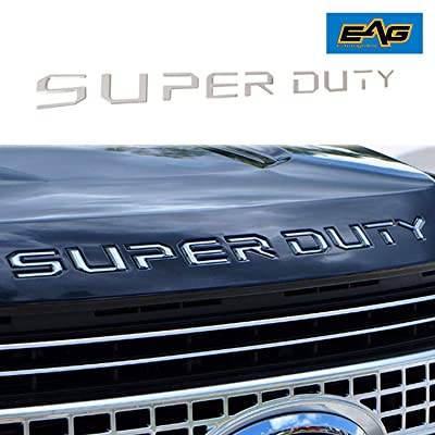 EAG Chrome Hood Insert Letters Fit for 2020-2020 Ford Super Duty F250 F350 F450: Automotive