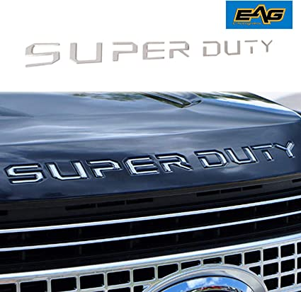EAG Tailgate Insert Letters Fit for 2008-2010 Ford Super Duty F250 F350 F450 Chrome