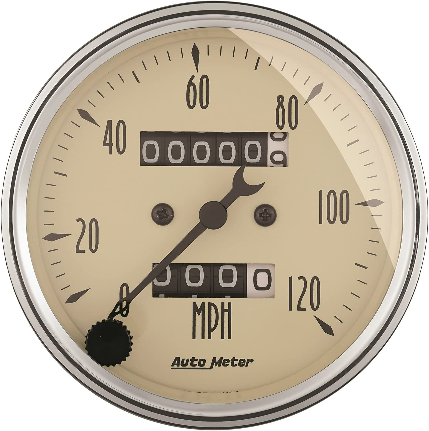 Auto Meter 1885 Antique Beige Clock