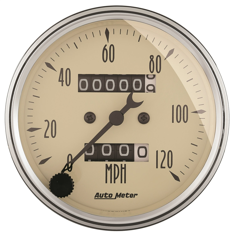Auto Meter 1896 Antique Beige Mechanical Speedometer