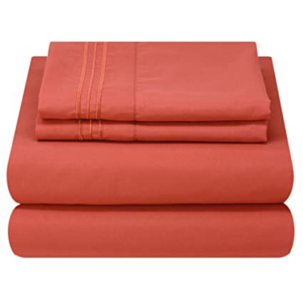Amazon.com: Juego de sábanas de cama de lujo Mezzati ...
