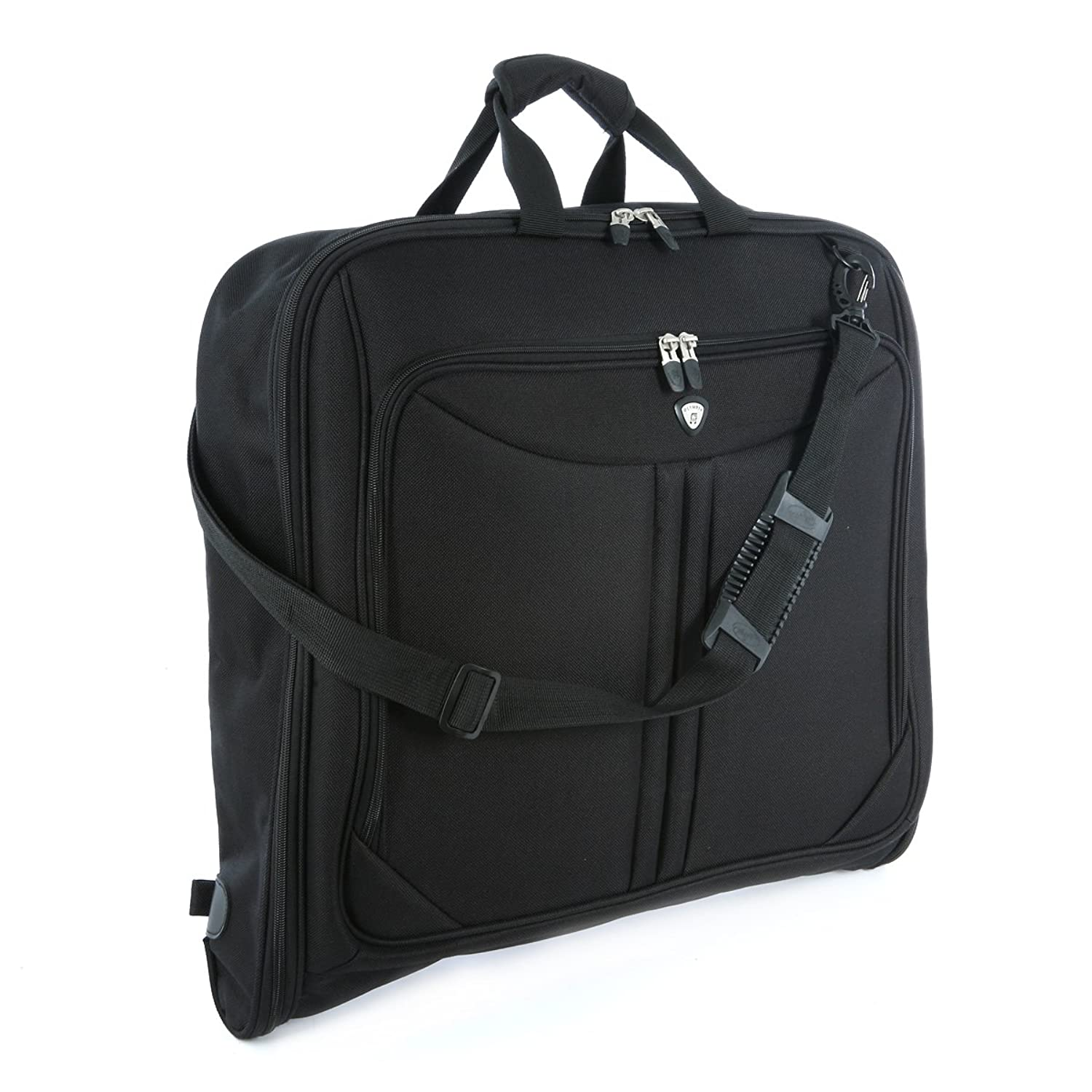 Amazon.com | Olympia Luggage Deluxe Garment Bag, Black, One Size ...