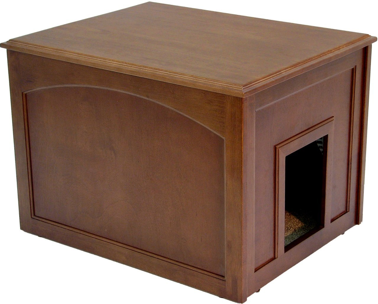 Crown Pet Products Cat Litter Cabinet, Mahogany