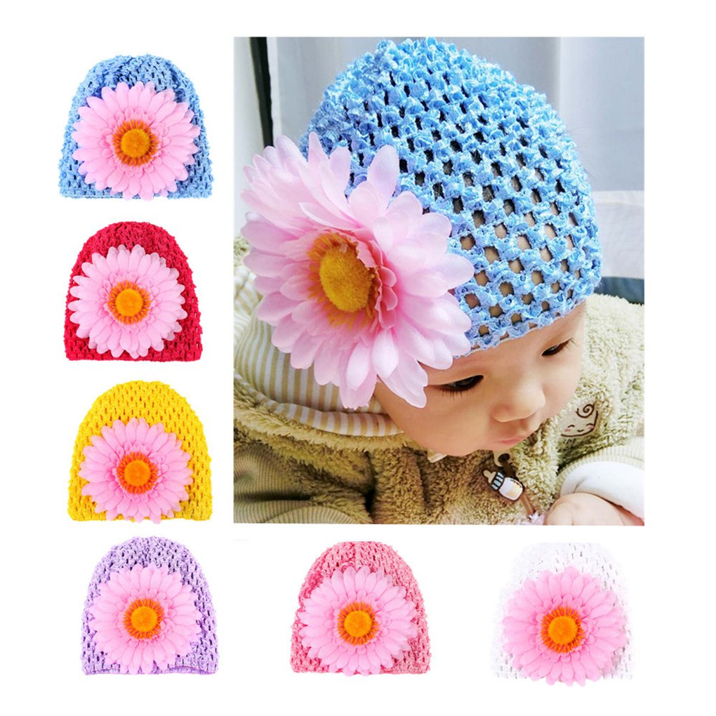 CHSEEA 6PCS Cute Baby Hat Set Elastic Turban Head Dress Headbands Hair Wraps Hairbands Hair Bow For Toddler Kids Photography Props, Costume, Party - Great Gift For Baby #1