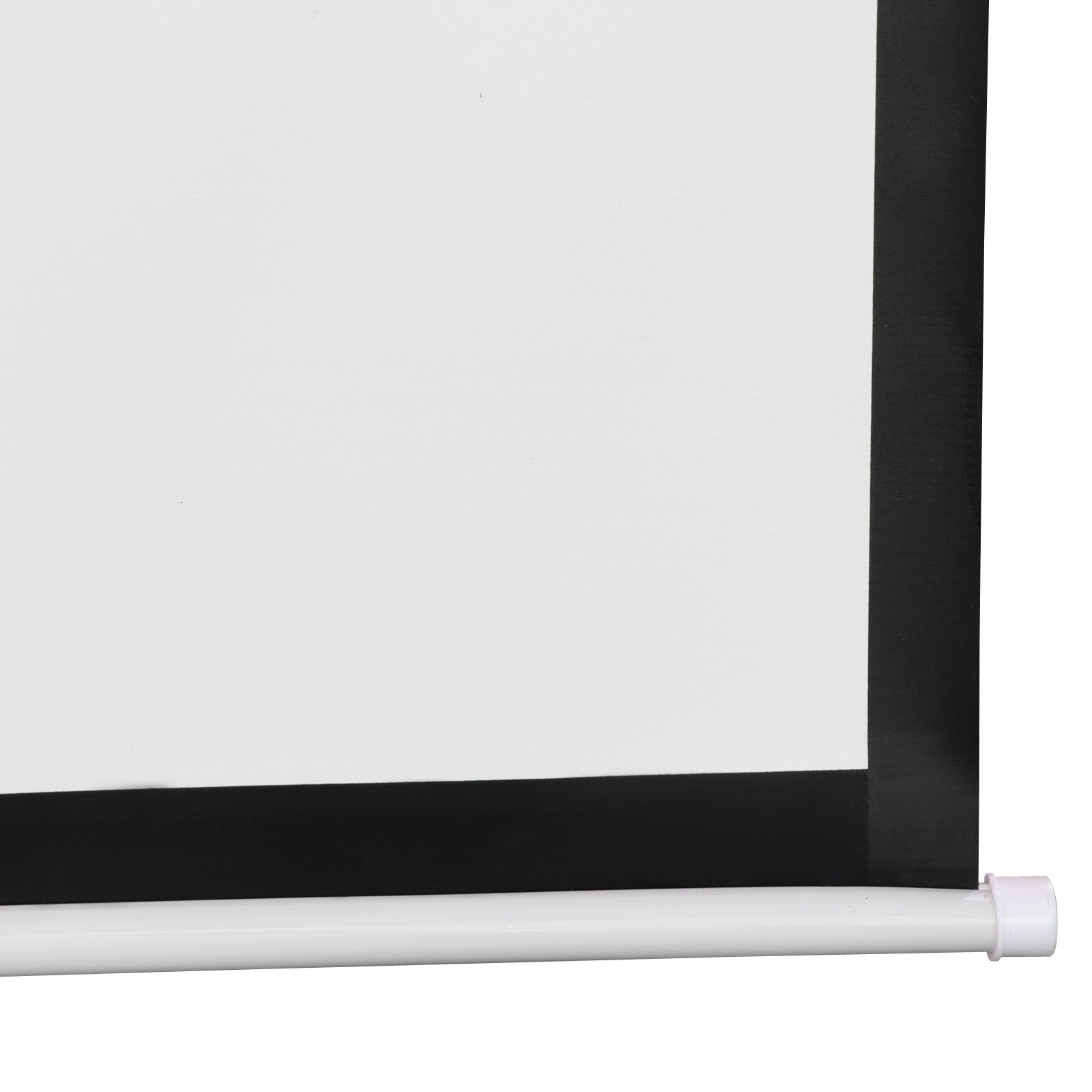 SUPER DEAL 120'' Projector Screen Projection Screen Manual Pull Down HD Screen 1:1 Format for Home Cinema Theater Presentation Education Outdoor Indoor Public Display by SUPER DEAL (Image #5)