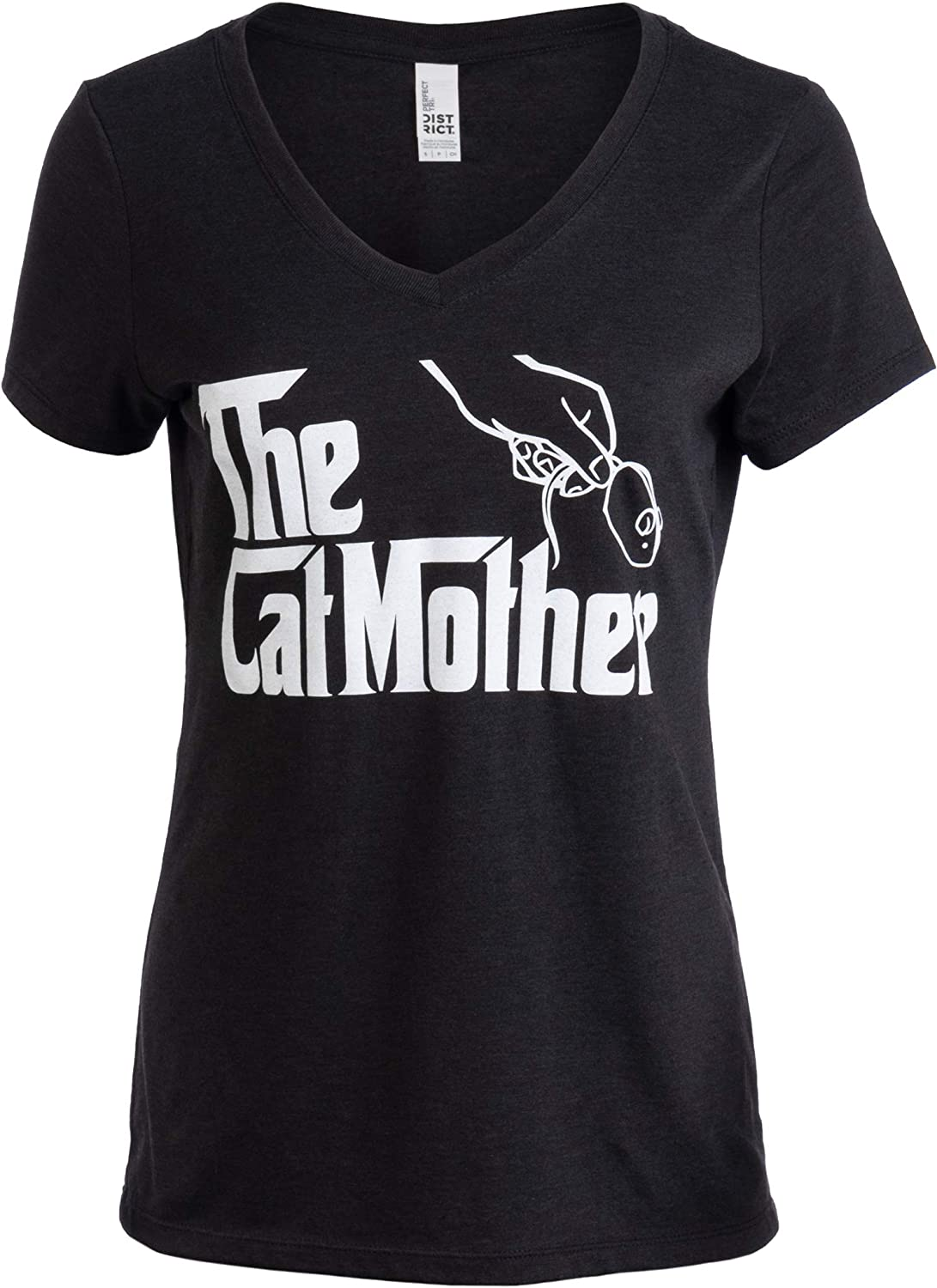 The Catmother | Funny, Cute Cat Mother Mom Owner Pet Kitty Kitten Women V-Neck T-Shirt