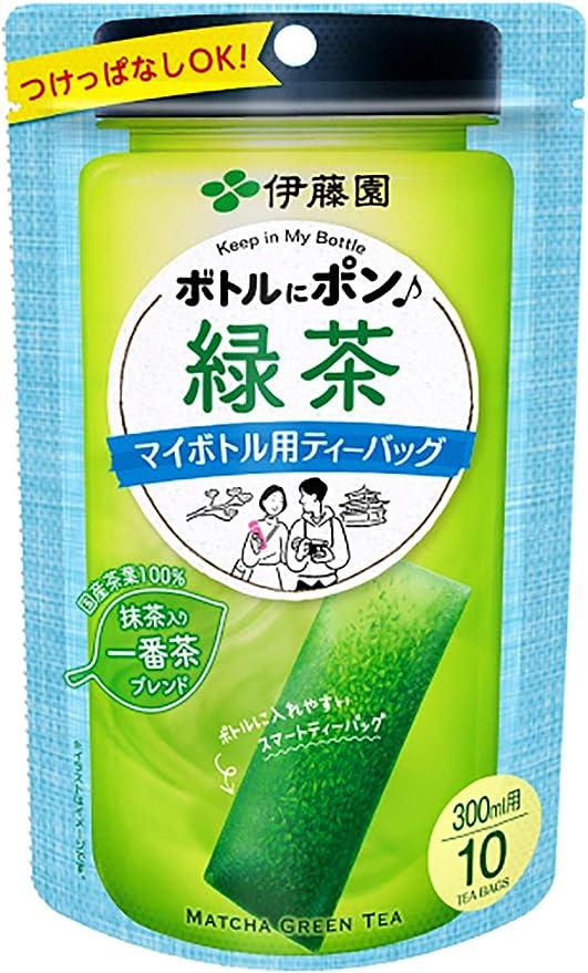 伊藤園 ボトルにポン 緑茶 マイボトル用ティーバッグ 2.5g×10袋