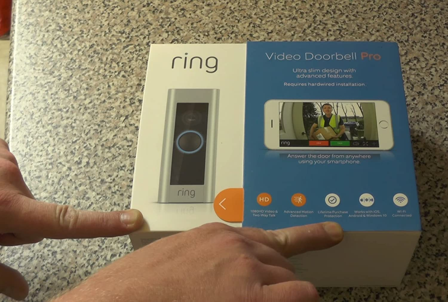 Amazon.com: Ring 8VR1P6-0EN0 Pro Video Doorbell, Wi-Fi Connected - Quantity 4: Home & Kitchen