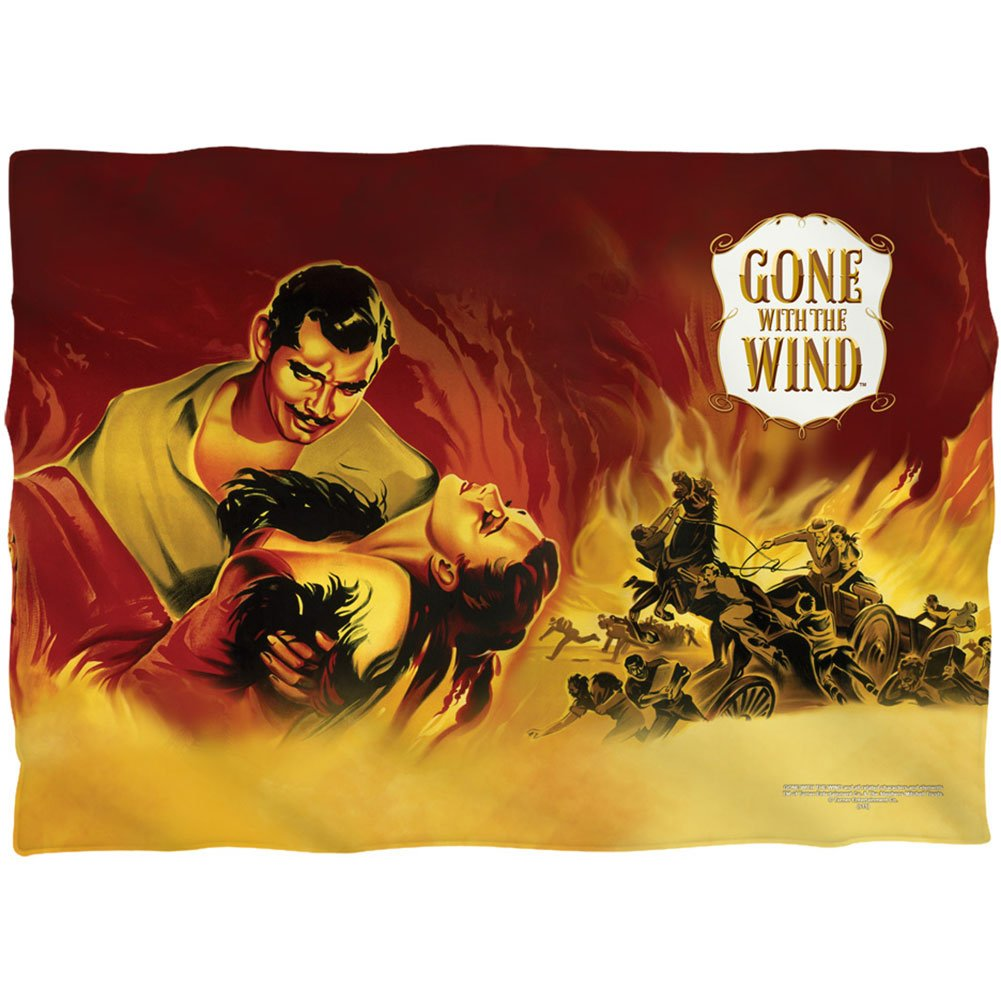 Gone With the Wind Epic Romantic Drama Movie Fire Poster 2 Sided Pillow Case