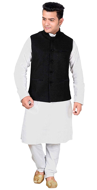 a761fd6587d Amazon.com  Men s Nehru Gandhi Modi Style Waistcoats ribbed velvet mix Indian  waistcoat 1013  Clothing