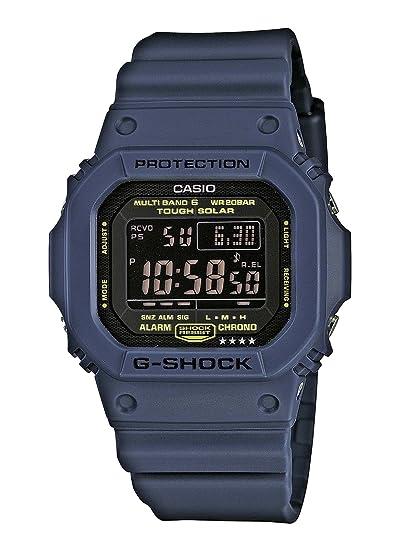Casio GW-M5610NV-2ER - Reloj digital de cuarzo para hombre con correa de resina, color azul: Amazon.es: Relojes