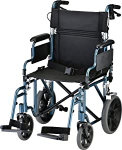 NOVA Lightweight Transport Chair with Locking Hand Brakes