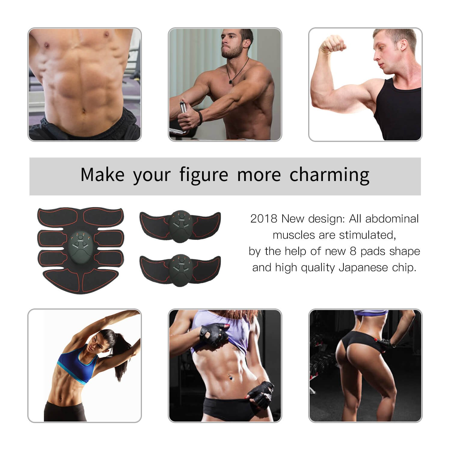 Fitness Equipment & Gear Abdominal Exercisers Responsible 2018 Trainer Abdominal Toning Muscle Toner Charming Abs Smart Ems Fitness Belt