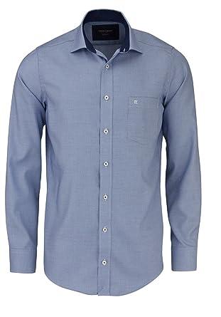 CASAMODA Modern Fit Hemd Langarm New Kent Kragen Muster blau  Amazon ... 1177144295