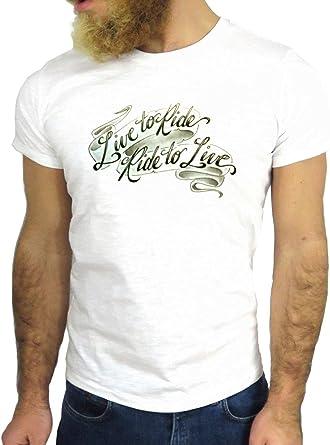 Jode T Shirt Z3145 Tattoo Live To Ride Ride To Live Cool Fun Write