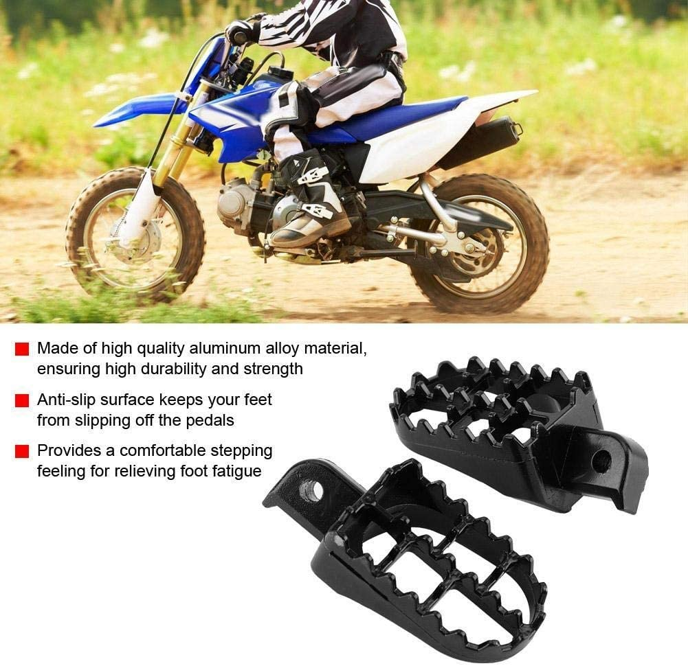 Rockyin 2pcs Motorcycle Foot Pegs Pedals Rest Footrest for Yamaha PW50 PW80 TW200