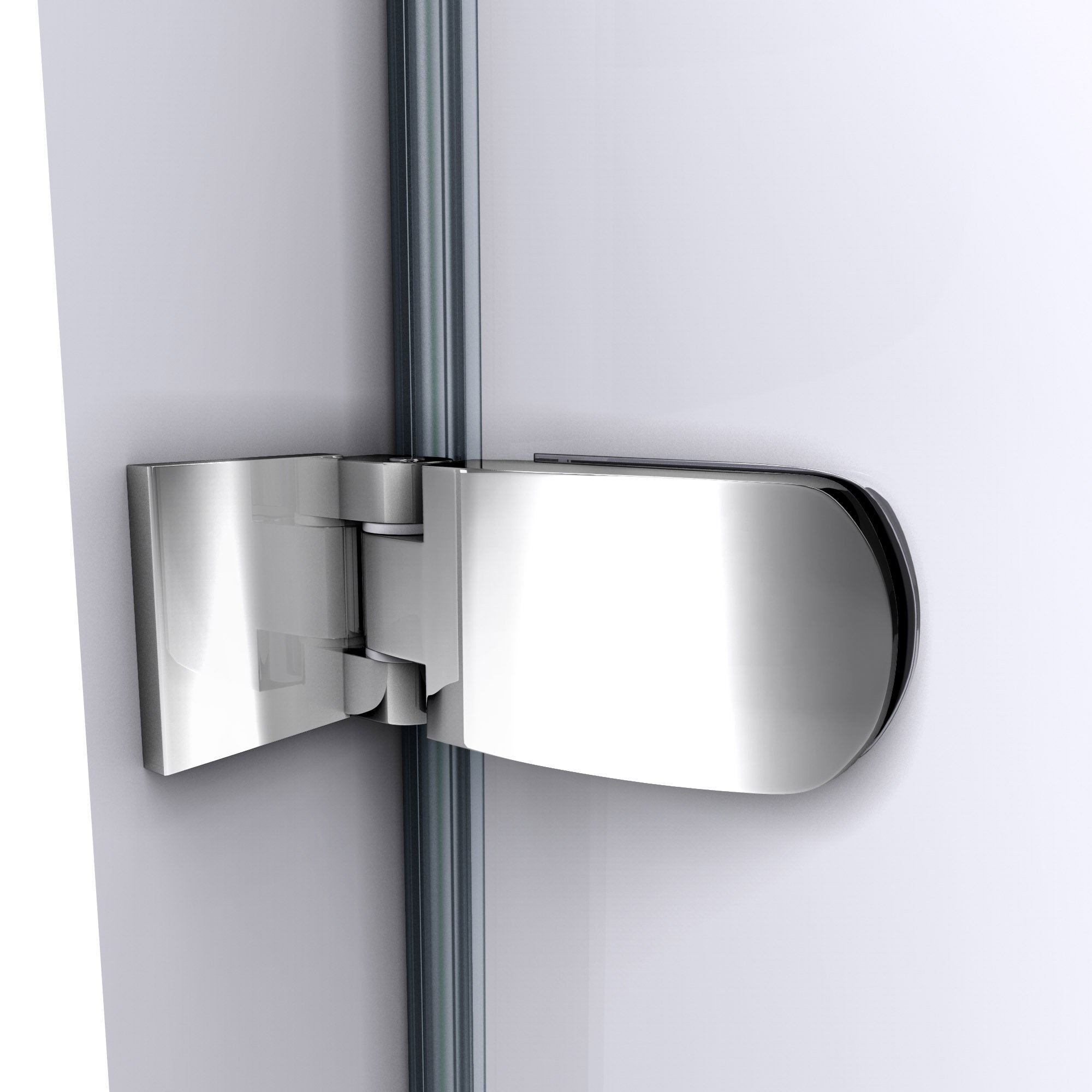 DreamLine Aqua Uno 34 in. Width, Frameless Hinged Tub Door, 1/4'' Glass, Chrome Finish by DreamLine (Image #4)