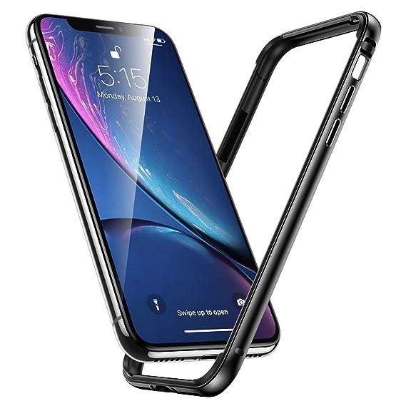 buy popular 8e80f ecba4 Aluminum iPhone XR Case, IFCASE Slim Aluminium Metal Bumper (No Signal  Reduce) TPU Inner Frame Shock Absorbing Case for iPhone XR (Black)
