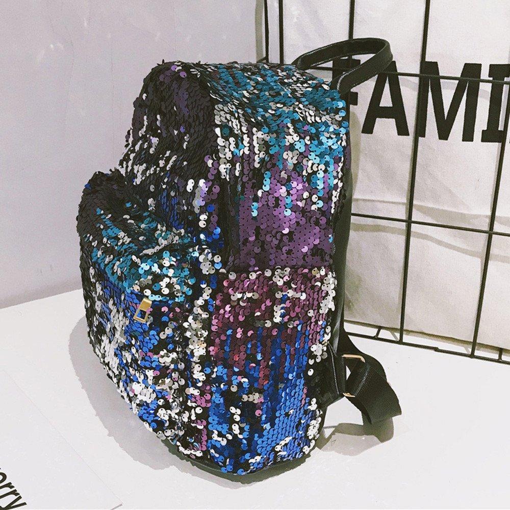Amazon.com: Joopee Women Sparkling Backpack Fashion School Bag Sequins Travel Satchel Shoulders Bag (Blue): Home & Kitchen