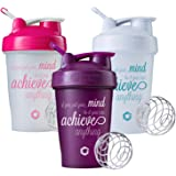 Achieve Anything Classic Blender Bottle Shaker Cup, 20oz or 28oz Protein Shaker