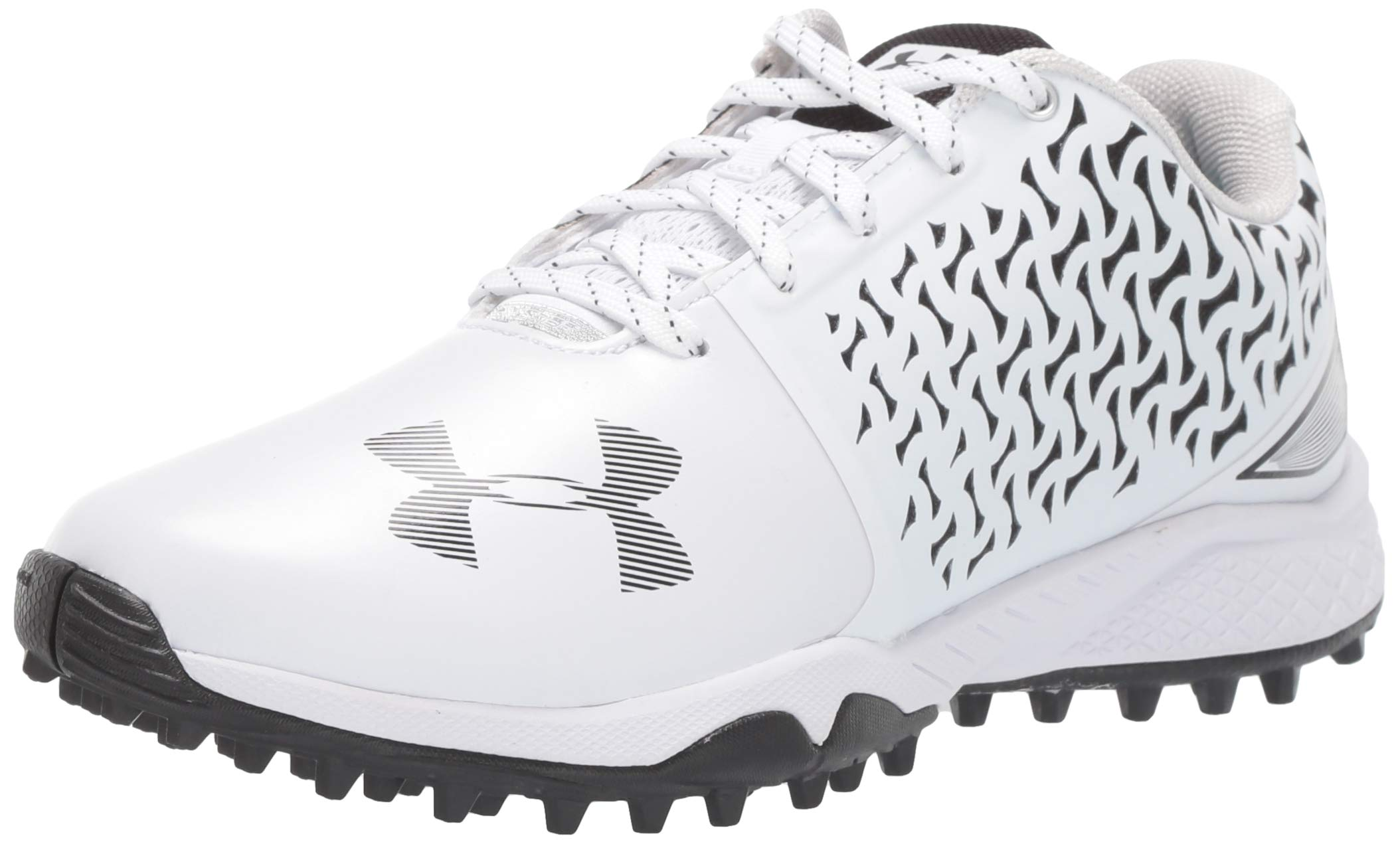 Under Armour Women's Finisher Turf Lacrosse Shoe, White (101)/Black, 7 by Under Armour