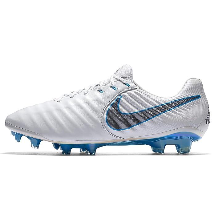 0b87d2e44ff Amazon.com  Nike Legend 7 Elite Firm Ground Cleats (7 D(M) US) White Grey   Sports   Outdoors