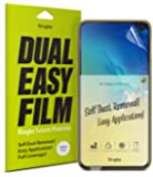 """Ringke Dual Easy Film [2 Pack] Compatible with [Galaxy S10e] High Resolution [Anti-Smudge Coating] Easy Application Case Friendly Screen Protector for Galaxy S 10e (5.8"""")"""