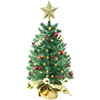 Amazon Price History for:Liecho 24 Inch Tabletop Mini Christmas Tree, Miniature Pine Christmas Tree with Hanging Ornaments, Battery Operated…