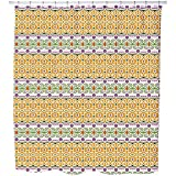 Uneekee Decorated Way Shower Curtain: Large Waterproof Luxurious Bathroom Design Woven Fabric