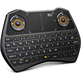 Rii Mini i28C Wireless teclado (layout Español) - Mini teclado ergonómico retroiluminado con doble ratón touchpad para Smart TV, Mini PC Android, , Pad, Andriod TV Box, Google TV Box, Raspberry PI, KODI XBMC TV Box, PS3, HTPC/IPTV, etc (ES-MWK28C)