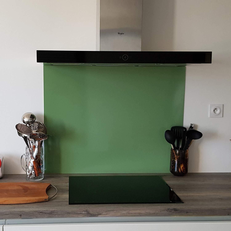 crédence Aluminio Color Verde claro - altura 50 cm X Ancho 80 cm ...