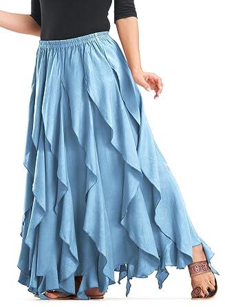 Blue Ruffle Skirt