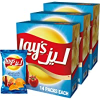 Lay's Tomato Ketchup Potato Chips 23 gm x 14 Pack of 3