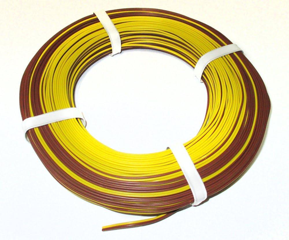 Moba Petersdorf Zwillingslitze Braun Gelb 50m Ring Litze 0 14mm 1m 0 29 Spielzeug