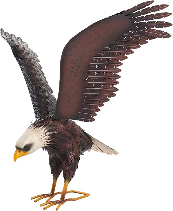 Chisheen Eagle Garden Statue Outdoor Decorations Metal Yard Art Patio Sculpture Large