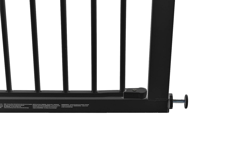 CALLOWESSE Enfant /& Pet Gate Extra-Haut 75-82 cm x 110 cm de Hauteur Noir Pression Fit
