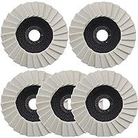 5 Stks Wol Vilt Polijstwiel 5 Inch/125mm Gekartelde Wasmachine Flap Vilt Disc voor Rvs Glas Metalen Aluminium Hoek…