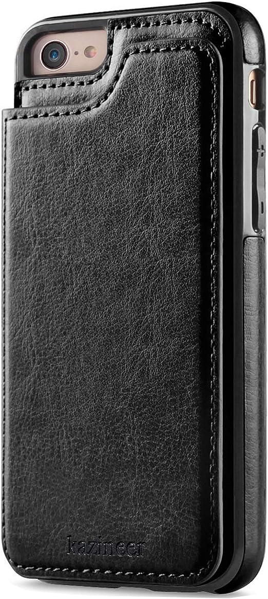 custodia in pelle per iphone 7 - nero