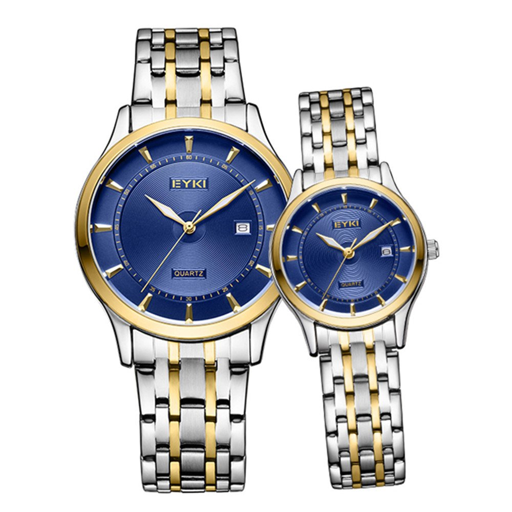 TIDOO Fashion Business Stainless Steel Quartz Watches Date Calendar Wristwatches Analog Couples Watches