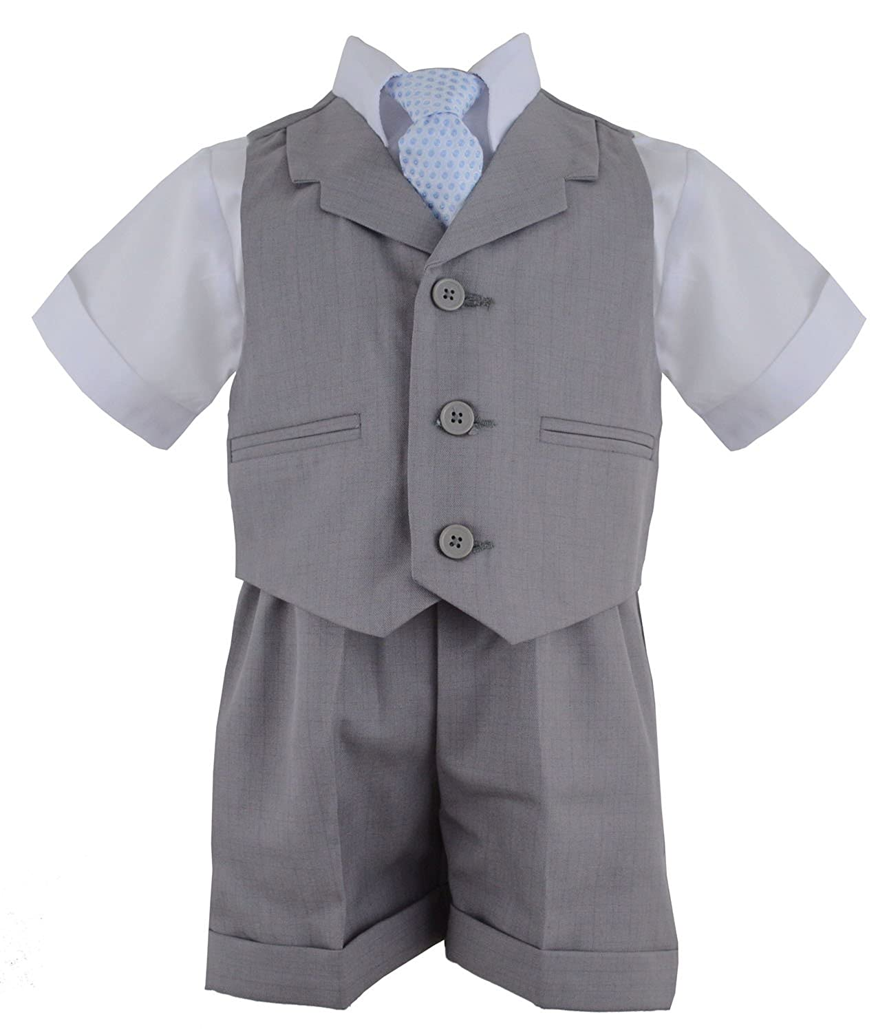G240 Baby Toddler Boy Summer Suit Vest Short Set