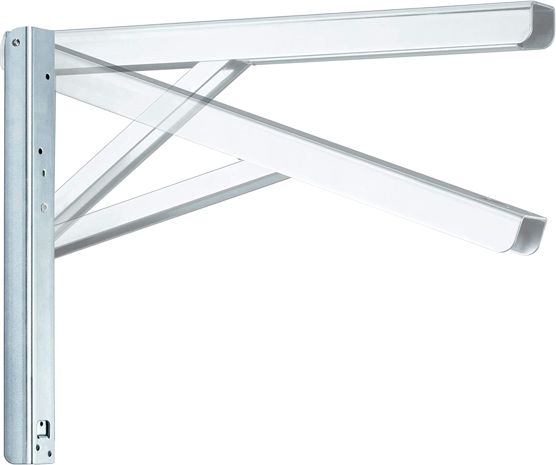 Klappkonsole Schwerlast Schwerlastkonsole 300mm Edelstahl Klappregalhalterungen Tisch Klapptr/äger Regaltr/äger f/ür Haus K/üche B/üro Grill Wandhalterung 300mm, silber