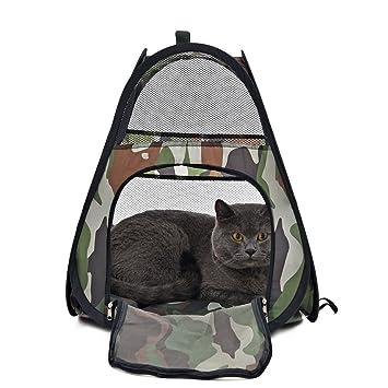 GHC-CASES-22 Pet Supplies, para Perros, Perro casa Bolsa de Animales Pequeños Camo Gato Túnel de la Tienda de Mascotas Portador Bolsa Kitten Muebles Cama ...