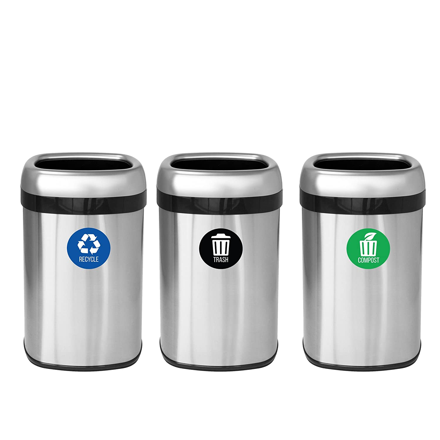 Amazon.com: iTouchless Trash Stickers Premium Vinyl Decals for ...