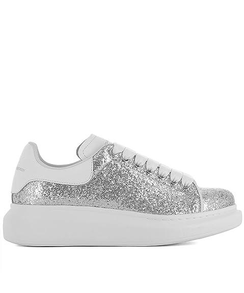 Alexander McQueen, Sneaker Donna Argento Argento IT - Marke ...