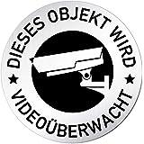Melis Folienwerkstatt Schild Bohrl/öcher 15x10cm 3mm Aluverbund S00348-016-B 20 VAR Du bist auf Kamera